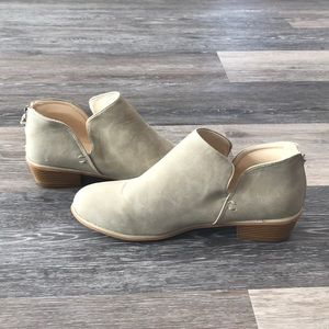 Shoes - Faux suede ankle booties
